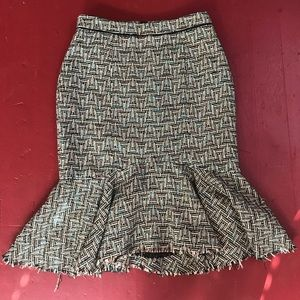 💚 Anthropologie Elevenses Tweed Flare Skirt 💙